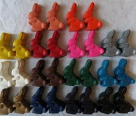 Rabbit or Easter Bunny Crayon Set of 28