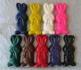 Large Bunny Rabbit with Bow Tie Crayon Set of 14