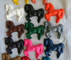 Large Horse Equestrian Crayon Set of 28