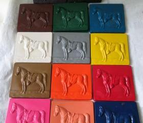 Giant Horse Equestrian Crayon Set of 14