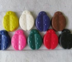 Large Ladybug Crayons Set of 14