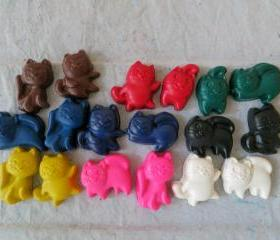 Kitten or Cat Crayon Set of 28