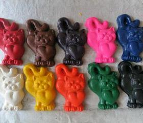 Giant Cat Kitten Crayon Set of 14