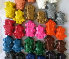 Robot Crayons Set of 28