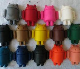 Robot Android Crayon Set of 14