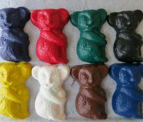 Large Koala Bear Crayon set of 28