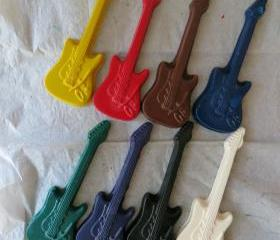 Giant Electric Guitar Instrument Crayon Set of 14