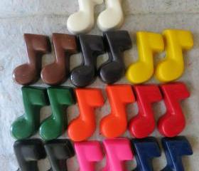 Music Note Crayon Set of 28