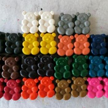 Bear Crayons Set of 28 in 14 Crayola Colors